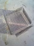 3 stage filter-Hardware cloth table for inside bottom of bucket.